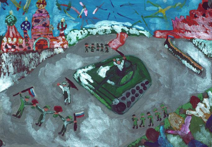 «Парад Победы», Елисеева Саша, 8 лет
