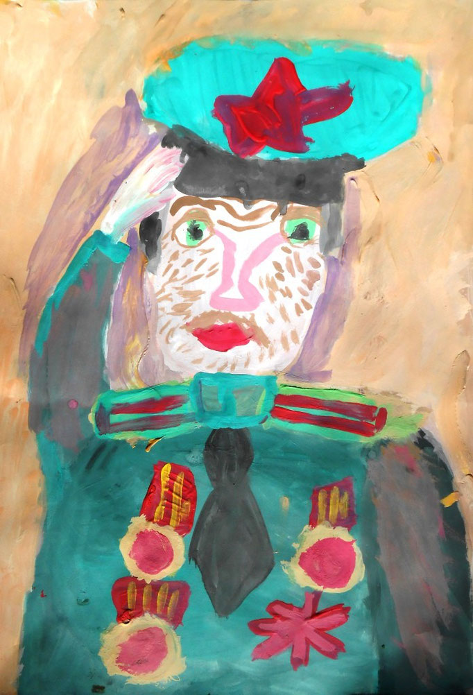 «Портрет прадедушки», Фомина  Софья, 7 лет