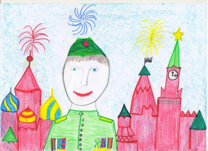 «На Красной площади салют», Фокова ЕкатеринаЮ, 6 лет