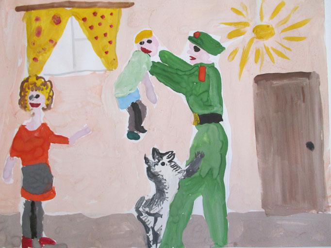 """""""Пришел солдат с войны"""", Фадеева Екатерина, 6 лет"""