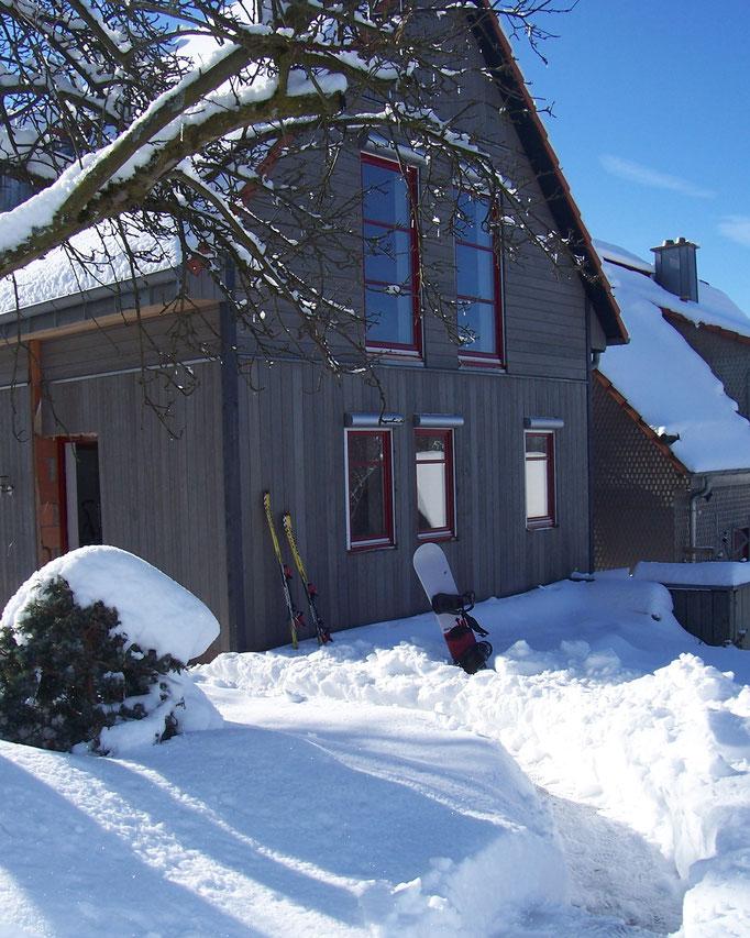 Ferienhaus Kaskadenschlucht bei Gersfeld / Rhön  - Winter