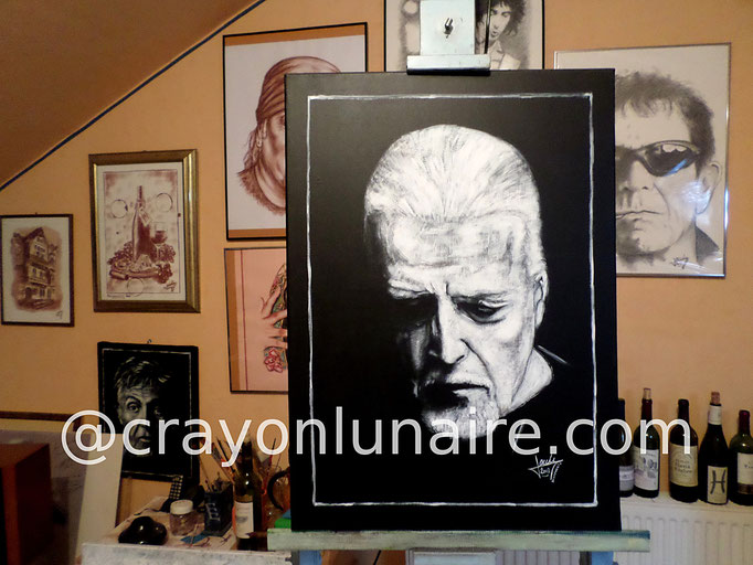 Jon Lord : Huile sur toile. Format 80 x 60.