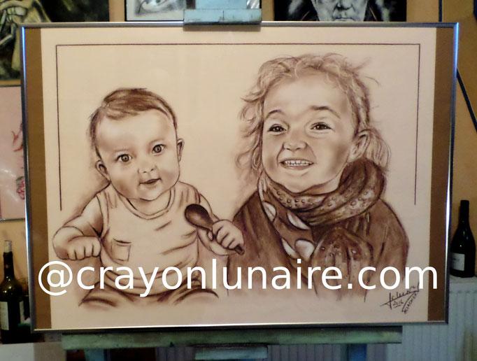 Portraits d apres photos - crayon lunaire