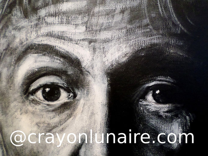 Paul Mc Cartney close up : Oil painting.