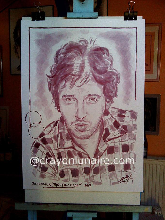 "Bruce Springsteen : Bordeaux "" Mouton Cadet "" 1997."
