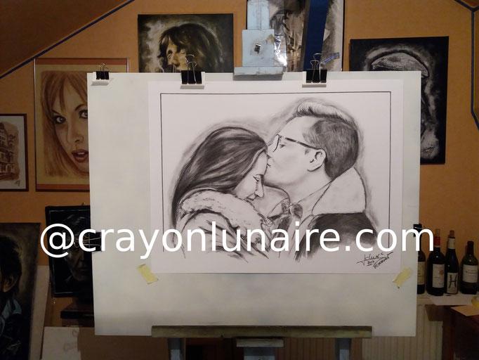 Portraits-couple-au-fusain