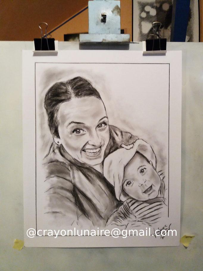Portrait-maman-fusain