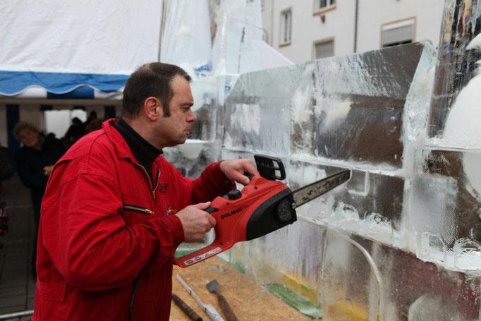 Eiskünstler,Icecarving-Live-Event,Eischnitzen,Joachim Knorra,