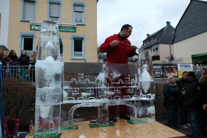 Eiskünstler,Icecarving-Live-Event,Eisschnitzen,Joachim Knorra