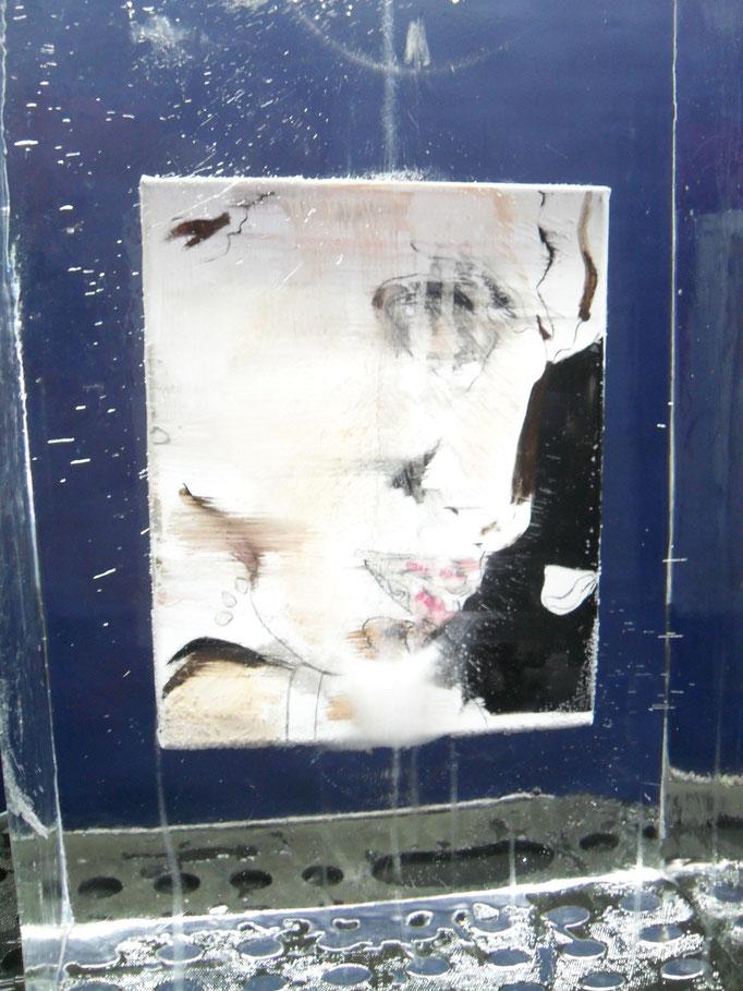 Einfrierung : Ölbild des Frankfurter Künstlers Deniz Alt