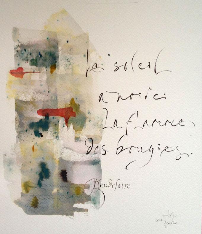 Calligaphie de Françoise Garel