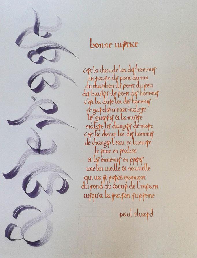 Calligraphie de Christine Euvrard