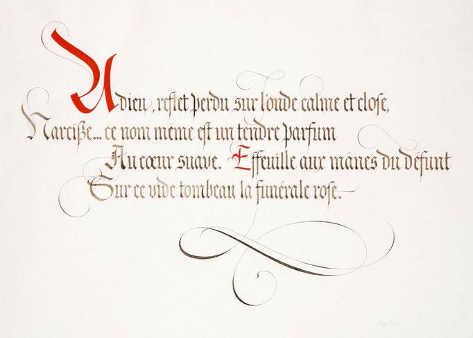 Calligraphié en Gothique Fraktur - © Serge Cortesi