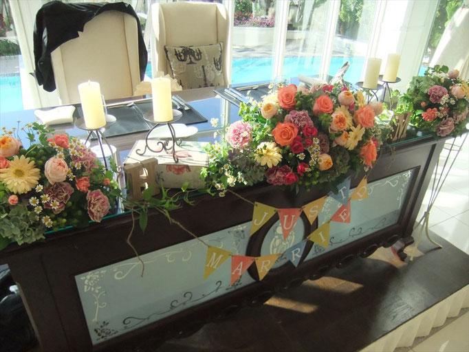 ボタニカルな高砂装花