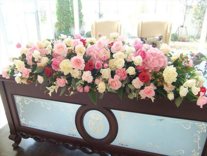 かわいい王道の花飾り