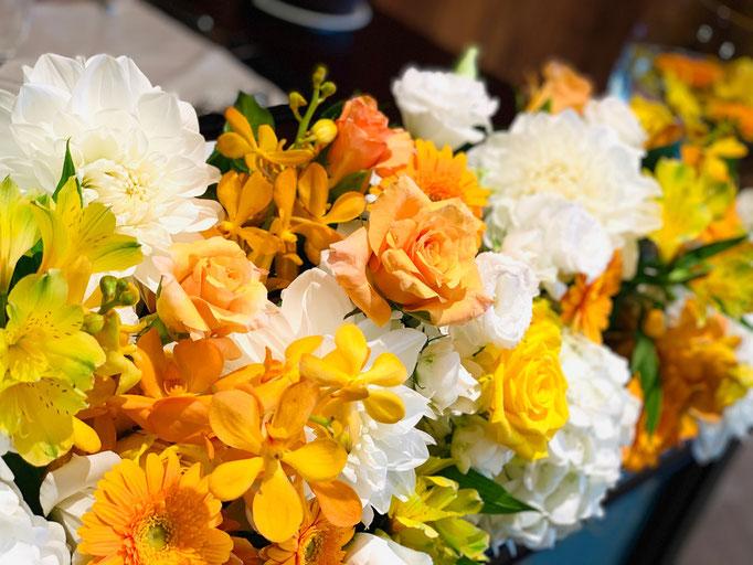 ナイトウェディング装花