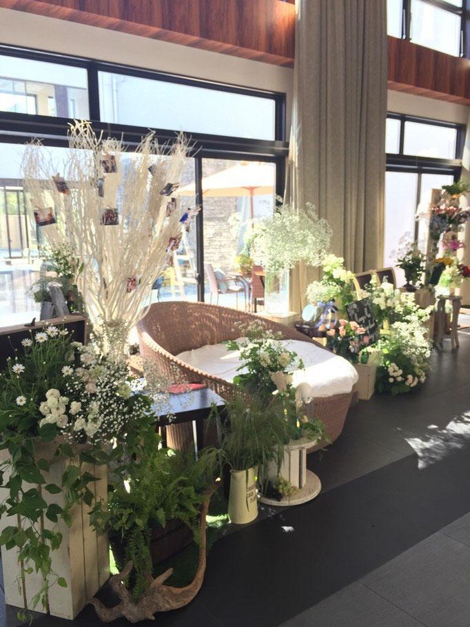オーダーメイド装花の披露宴