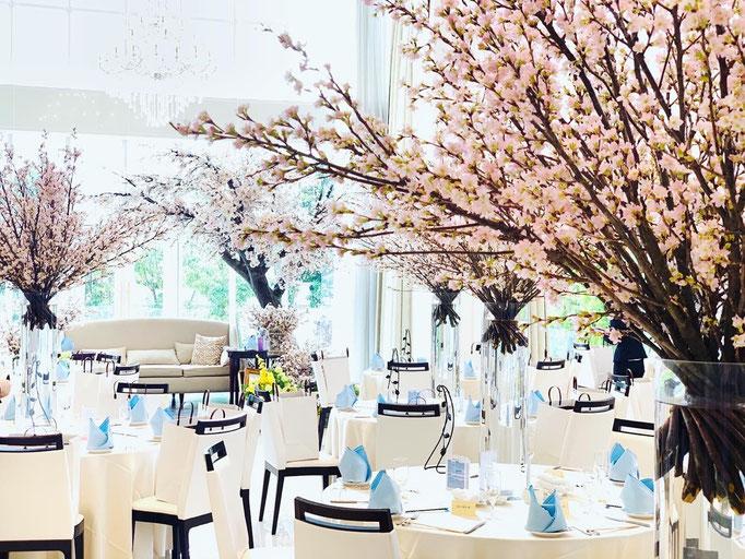 桜ウェディングで思い出の披露宴