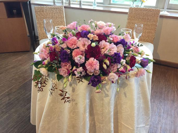 鯖江シティーホテル 高砂装花