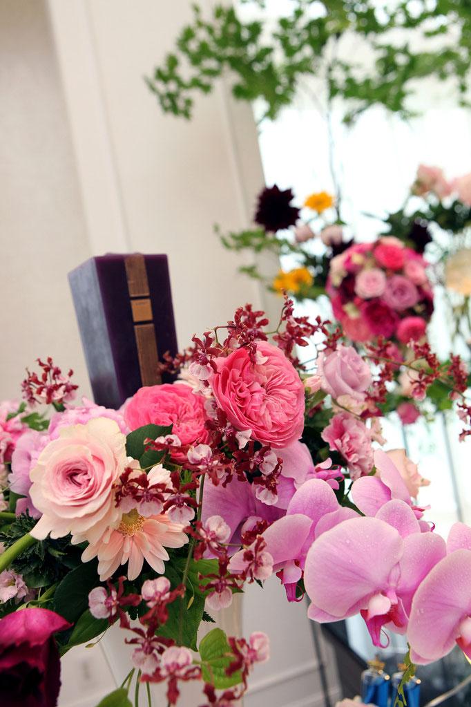 メインキャンドル装花