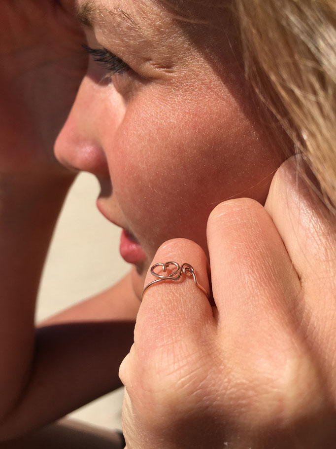 personalisierter Ring, Rosé Gold Filled, 44.50,-