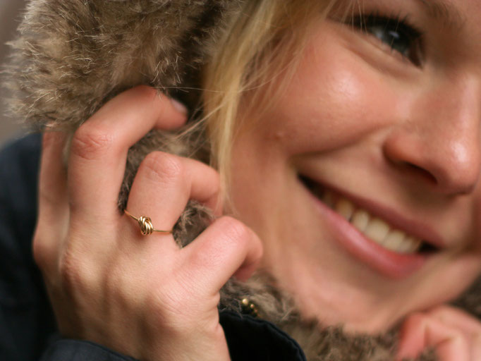 KNOTENRing, Gold Filled Draht 42.50,-