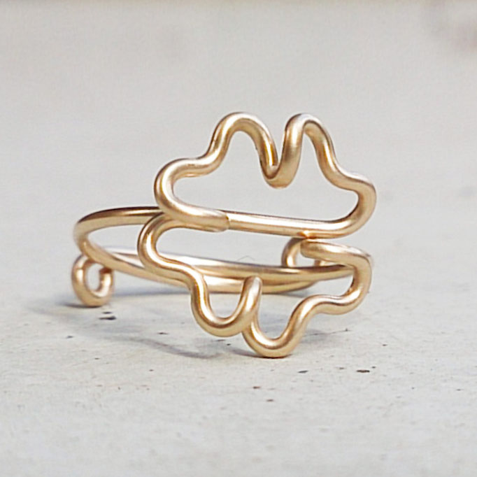 KLEEBLATT Ring, Gold Filled Draht 32.50,-