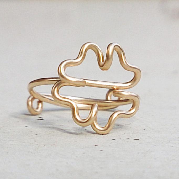 KLEEBLATT Ring, Gold Filled Draht 32.50,-