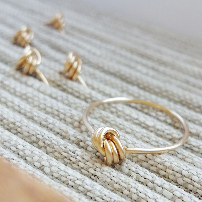 KNOTEN Ring, Gold Filled