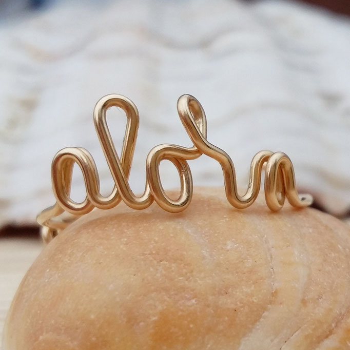 ALOHA Ring, Gold Filled 32.50,-