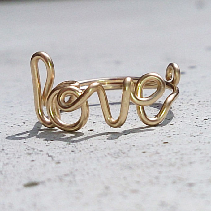 LOVE Ring, Gold Filled