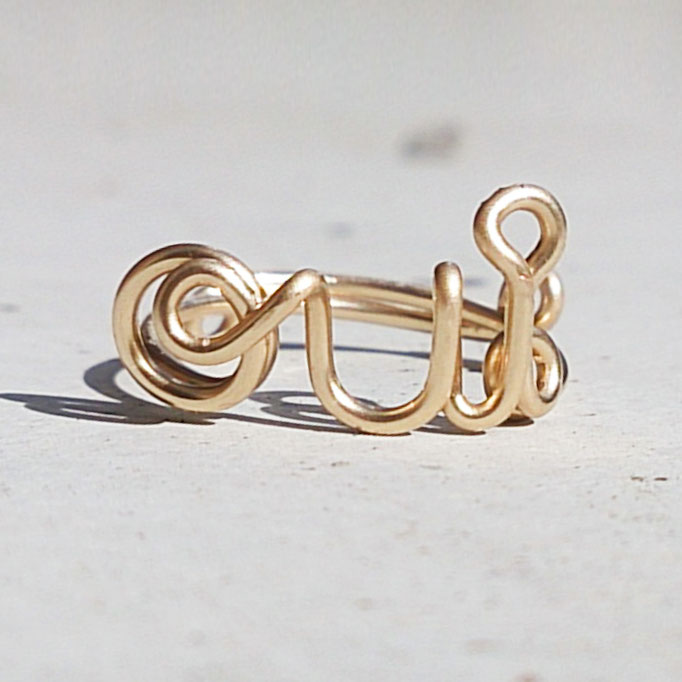 OUI Ring, Gold Filled