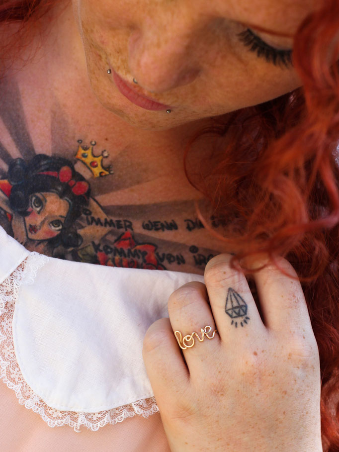 LOVE Ring, Gold Filled Draht 32.50,-