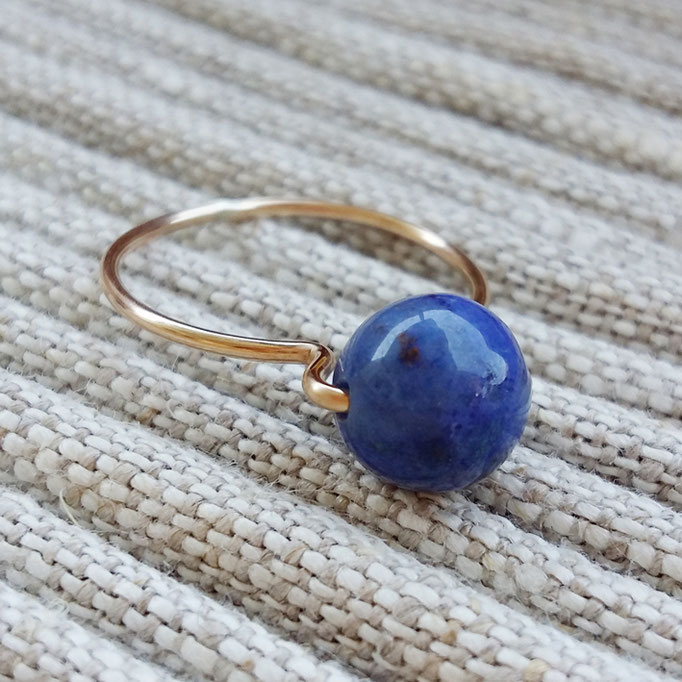 LAPISLAZULI Ring, Gold Filled 38,-