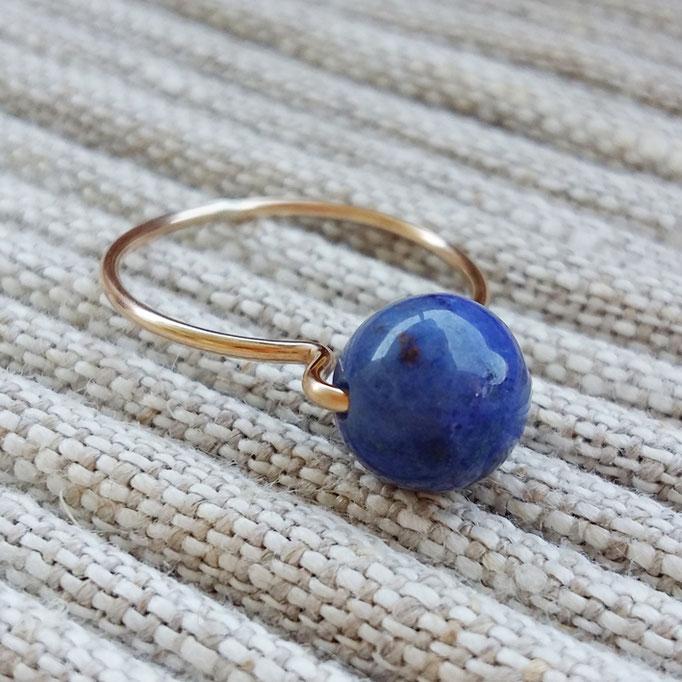 LAPISLAZULI Ring, Gold Filled 38,-