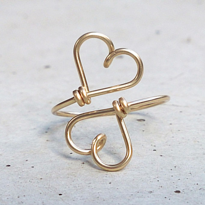 HERZ Ring, Gold Filled Draht 32.50,-
