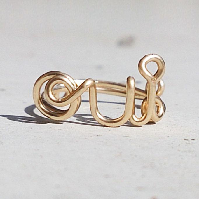 OUI Ring, Gold Filled Draht 32.50,-
