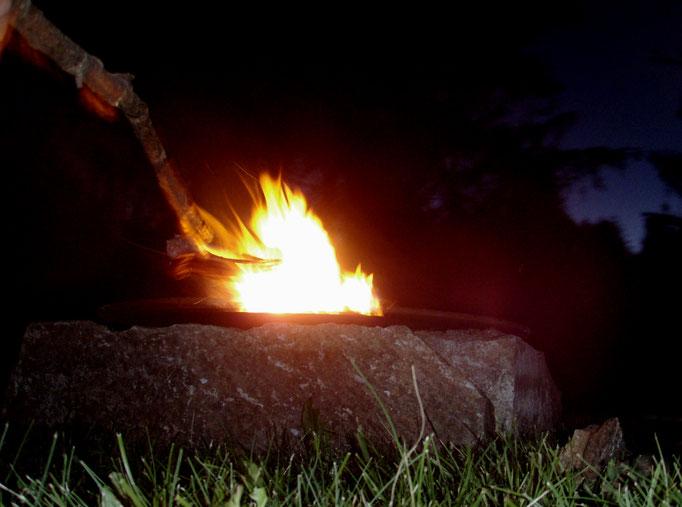 alps campfire - Alpen Lagerfeuer - falò alpi