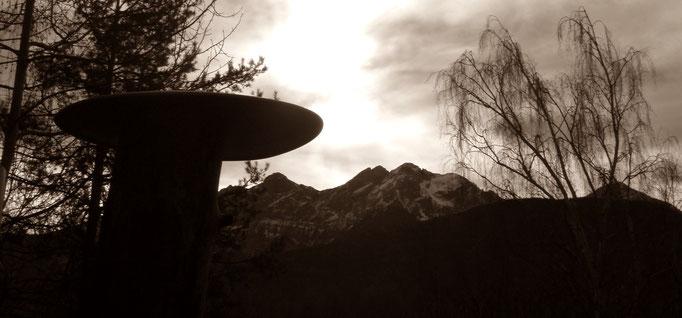 UFO über den olanger Dolomiten - Naturpark Fanes Sennes (Gadertal) Prags