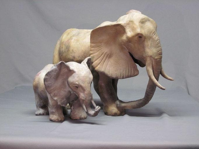 Eléphants d'Afrique - Collection Privée