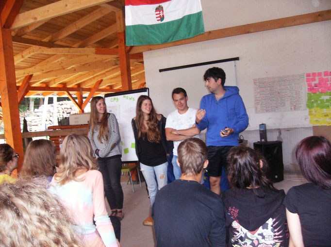 Participants presenting outcome of their group work