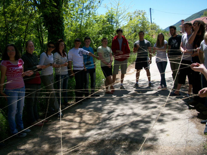 Participants of the exchange making a net-work of good emotions regarded to each other