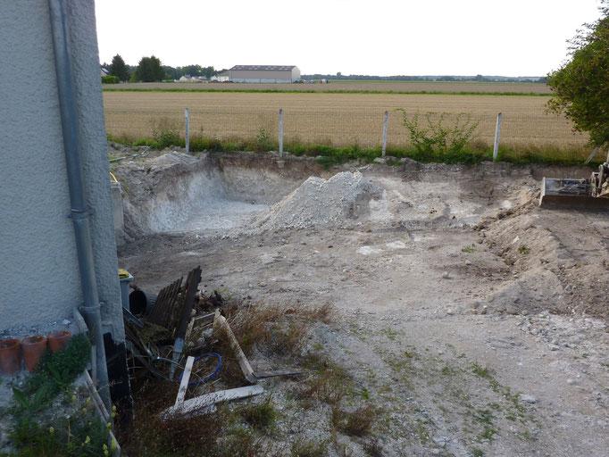Terrassement pour aménagement d'une descente de sous-sol