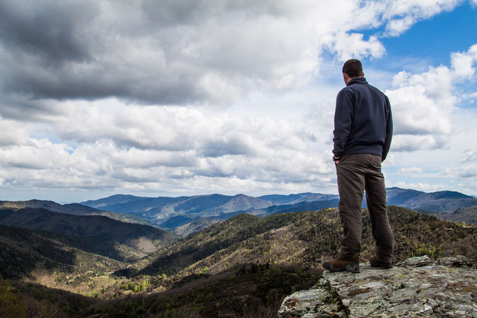 Petit randonnée et vue splendide sur les montagnes