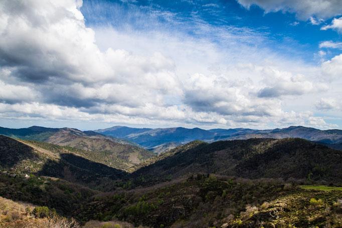Point de vue sur les montagnes cévenoles
