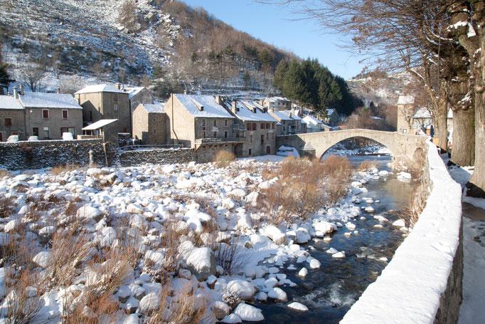 Pont de Montvert sous la neige