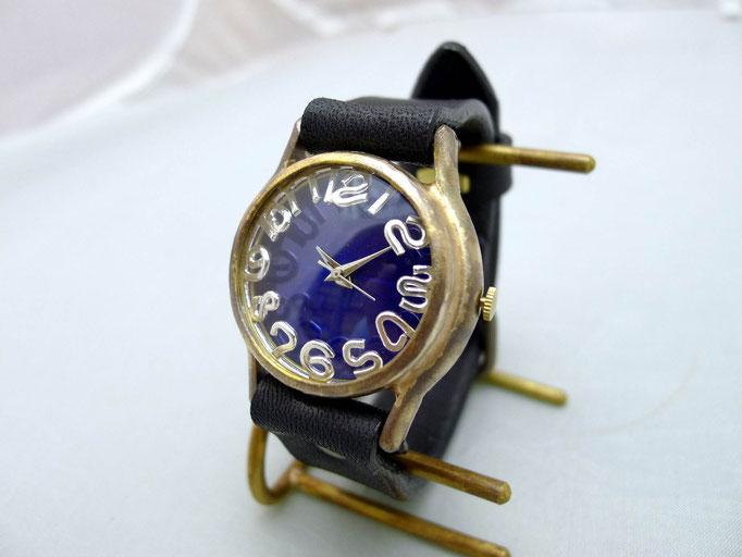 "#355 ""On Time3-B"" シルバーインデックス カラーダイアルBL(ブルー)  ¥19,000(消費税別)"