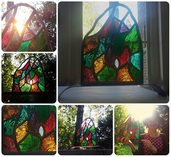Passion. Technique : Stained glass, painting  ( Scroll down for more insight about this artpiece)