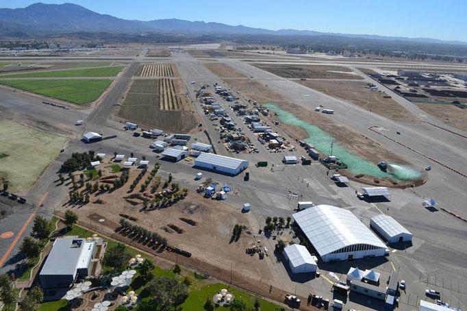 EnviroCoatings - Sky Shot of Construction of Solar Decathlon 2013