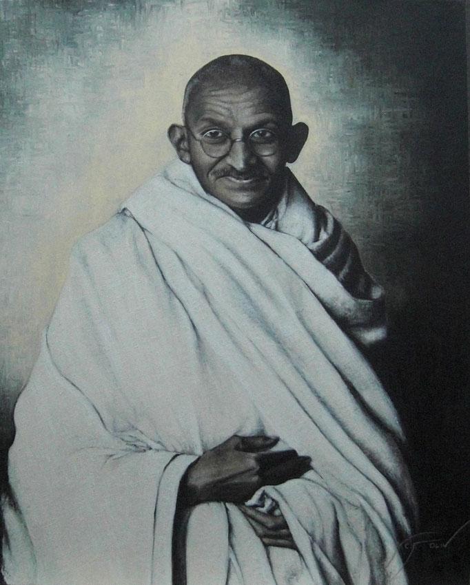 Mahatma Gandhi - 81 x 100 cm